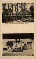 Walsrode Lüneburger Heide alte Zweibildkarte 1929 Ansichten aus dem Heide Museum