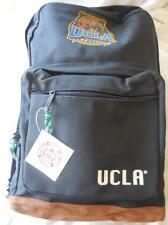 """UCLA leather bottom backpak Licensed 1996 3 compartments 17"""" X 12"""" X 5"""" approx"""