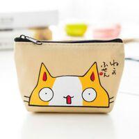 Cartoon Cat Pattern Cute Earphone Card Storage Bag Coin Purse Wallet Lovely