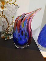 "Murano Blown Art Glass Millefiori Vase ""Sweet Dreams"" 10"" & 4.5 lbs."