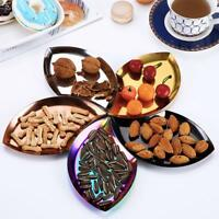 Leaf Seasoning Sauce Dish plate Melon Fruit Serving Home kitchen Q