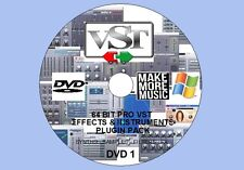 WINDOWS 64-BIT 16GB PRO VST / VSTI FX & INSTRUMENTS PLUGIN PACK FOR 64-BIT DAWS