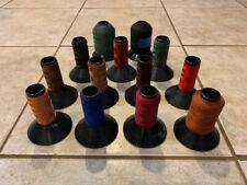 Sunset Nylon Rod Wrapping Thread Big Lot Of 13 Spools In Many Different Colors