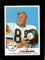 1969 TOPPS #259 J.R. WILBURN EXMT STEELERS NICELY CENTERED  *XR13320