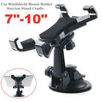 """360° Universal Car Windshield Mount Holder Suction Stand Cradle For 7-10"""" Tablet"""