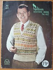 Patons Knitting Book - Men's Knits, Book No 417