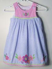 GOOD LAD Size 4 Multi-Color Seersucker Sleeveless  Checks Dress