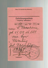 1943 Germany Flossenburg Concentration Camp money order Receipt W Karaskiewicz 2