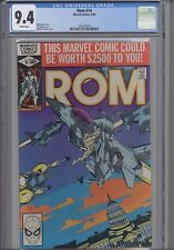 Rom: The Space Knight #10  CGC 9.4 Marvel 1980 Before Transformers NEW CGC FRAME