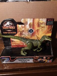 Jurassic World Savage Strike Velociraptor Charlie Dinosaur Figure NEW