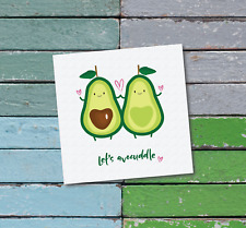 lets avocuddle greeting card boyfriend / girlfriend / birthday / valentines