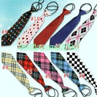10 Styles Tie For School Boys Girls Kids Elastic Necktie Wedding Tie 10 Colors