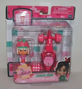 Disney Wreck It Ralph Sugar Rush Racer Taffyta Muttonfudge & Pink Lightning Kart