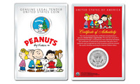 Peanuts Snoopy w Christmas Tree OFFICIAL JFK Half Dollar Coin in PREMIUM HOLDER