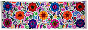 """Wall hanging tapestry table runner Rainbow floral Kashmir's wool embroider 60"""""""