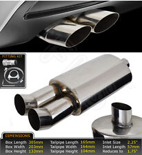 UNIVERSAL PERFORMANCE FREE FLOW STAINLESS STEEL EXHAUST BACKBOX LMO-003  CRY