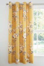 "Catherine Lansfield Canterbury Ochre Eyelet Curtains : 66x72""/168x183cm"