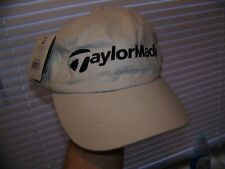NEW NWT TAYLORMADE Golf Cap Hat Embroidered Logo Light Beige Cotton Adjustable