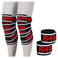 "Farabi Power lifting knee wraps bandages Knee Wraps elasticated 77"" long"