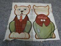 "Vintage Kellog's Cloth Doll Cereal Premium-""Crinkle The Cat"""