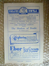 1956 Royal Theatre Programme- THE SHADOW OF DOUBT by Norman King