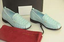New Bottega Veneta Kids Blue Loafers Intrecciato Nappa Calabria 28