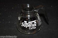 Black Superior 12 Cup Coffee Pot Commercial Glass Pot BUNN Airpot Regular MINT!!