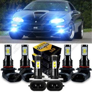 For Chevy Camaro 1998-2001 2002 9005 9006 881 6×LED Headlights+Fog Lights Bulbs