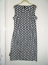 F&F black/white polka dot sleeveless dress size 14