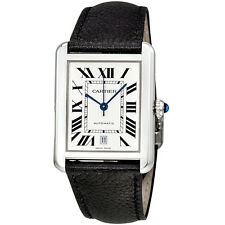 Cartier Tank Solo XL Silver Dial Automatic Mens Watch WSTA0029
