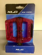 BMX Pedals XLC -  Size 9.5cm x 9cm -  Red Resin - Free Post
