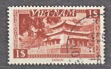 WIETNAM VIETNAM Fr. 1951 used SC#06 1pi stamp, Temple, Saigon.