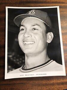 RARE 1970'S St Louis Cardinals Baseball TEAM ISSUE PRESS PHOTO LUIS MELENDEZ MLB