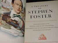 A Treasury of Stephen Foster Book 1946 50 Songs Music Americana Oh Susanna