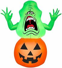 HALLOWEEN GHOSTBUSTERS SLIMER PUMPKIN HAUNTED HOUSE  INFLATABLE AIRBLOWN 3.5 FT