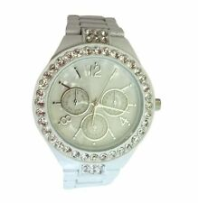 Stainless Steel Case Round Wristwatches with Acrylic Crystal