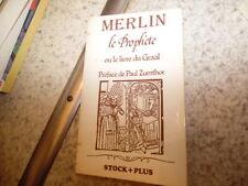1980.Merlin le prophète livre Graal.Moyen age.Zumthor.Baumgartner (envoi)