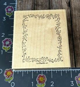 Stampin' Up! Ivy Flourish Plant Frame Rubber Stamp Square Floral Delicate #F142