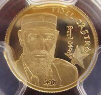 2017 1000 Togrog Mongolia Fidel Castro .5g Gold Proof Coin PCGSPR70DCAM FD