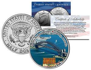 SYDNEY HARBOUR BRIDGE * Famous Bridges * JFK Half Dollar U.S. Coin Australia