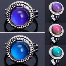 Magic Stone Mood Ring Adjustable Women Temperature Change Color Oval Jewelry