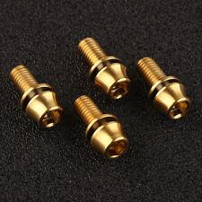 M5x12mm Titanium Ti Bolts Allex Hex Bike Stem Tapered Head Screw + Washer 4pcs