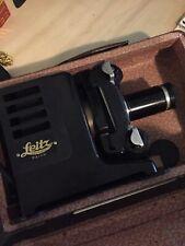 Leica E Leitz Wetzlar Parvo I Slide Projector With Leather Case Rare!?