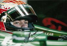 Antonio Pizzonia mano firmado Jaguar Racing F1 12x8 foto 7.