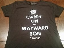 Rare Kansas Carry On My Wayward Son Supernatural Tv Cult T-Shirt (M) E.U.C