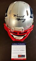 N'Keal Henry ASU Authentic Signed Patriots Speed Mini Helmet PSA/DNA COA