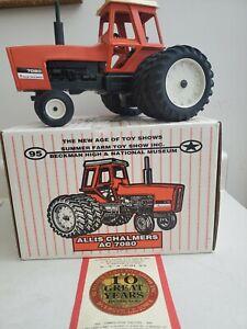 Allis Chalmers 7080 1995 Summer Farm Toy Show W Triples exhibitor 1-150 sig 1/16