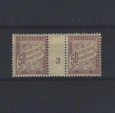 FRANCE Taxe n° 37 neuf avec charnière - Paire millésime 3