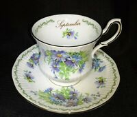 VTG QUEEN'S Bone China ROSINA Teacup & Saucer Set Special Flowers Sept. Aster