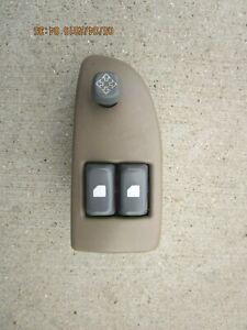 96 - 02 CHEVY EXPRESS GMC SAVANA DRIVER LEFT SIDE MSATER POWER WINDOW SWITCH TAN